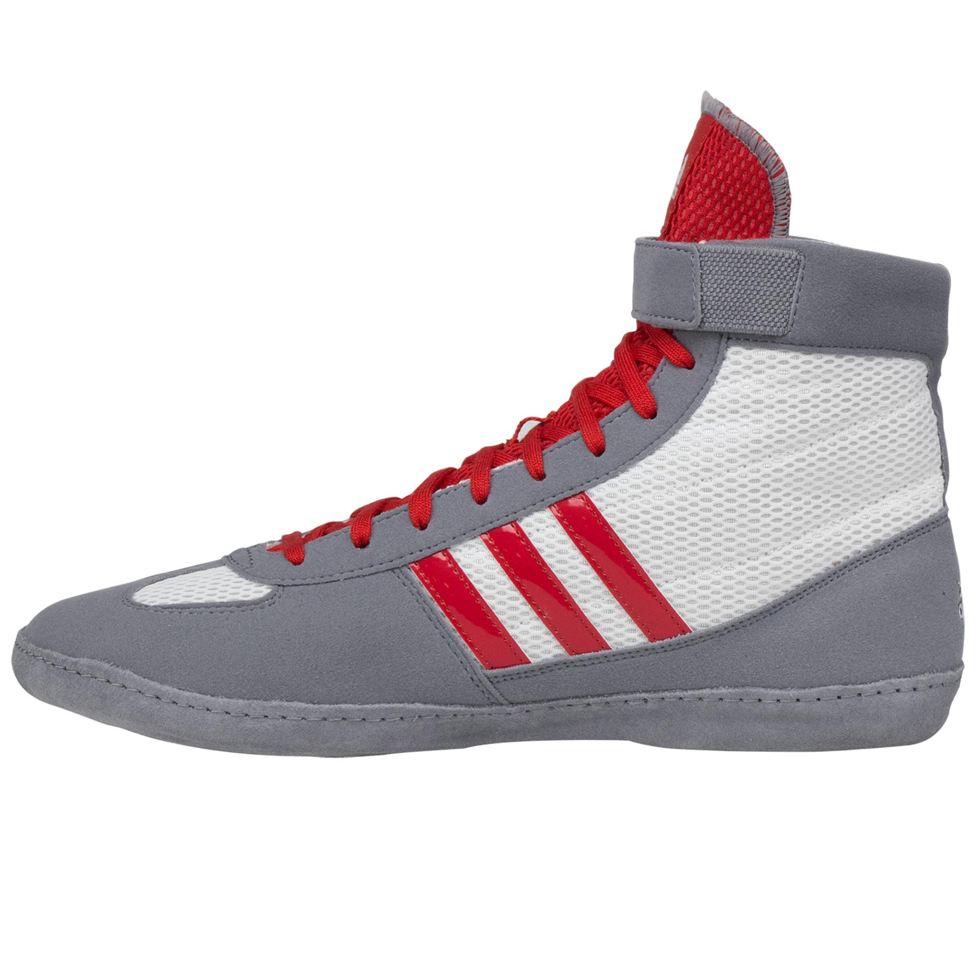 Combat Speed 4 Grey White Red frontAdidas Combat Speed 4 Grey White Red backAdidas Combat Speed 4 Grey White Red sole
