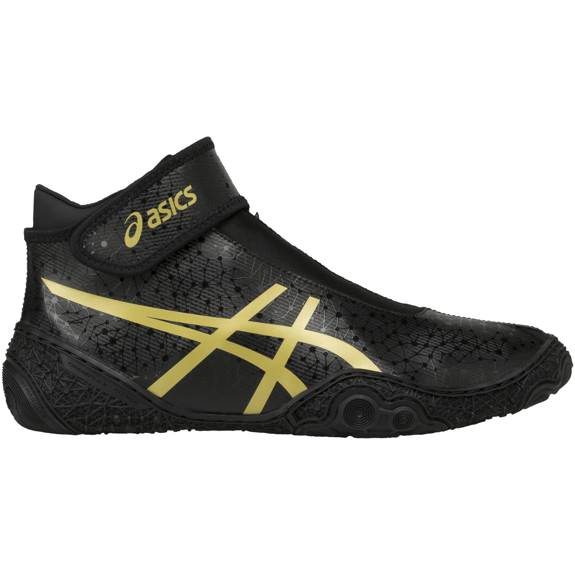 Asics Omniflex Attack 2 Black Gold ...