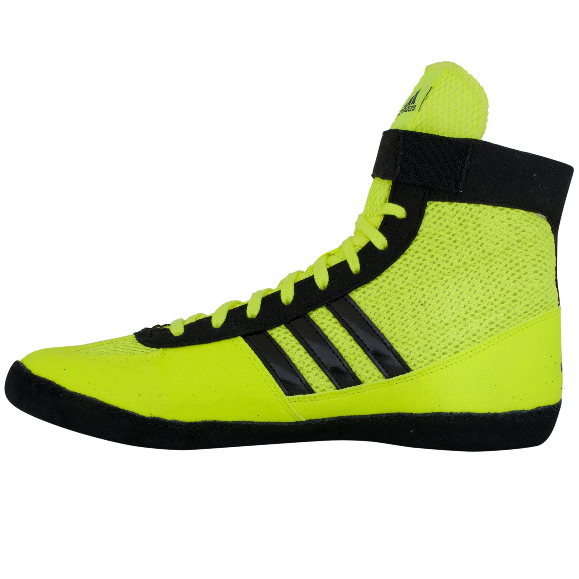 Lime Green Adidas Wrestling Shoes
