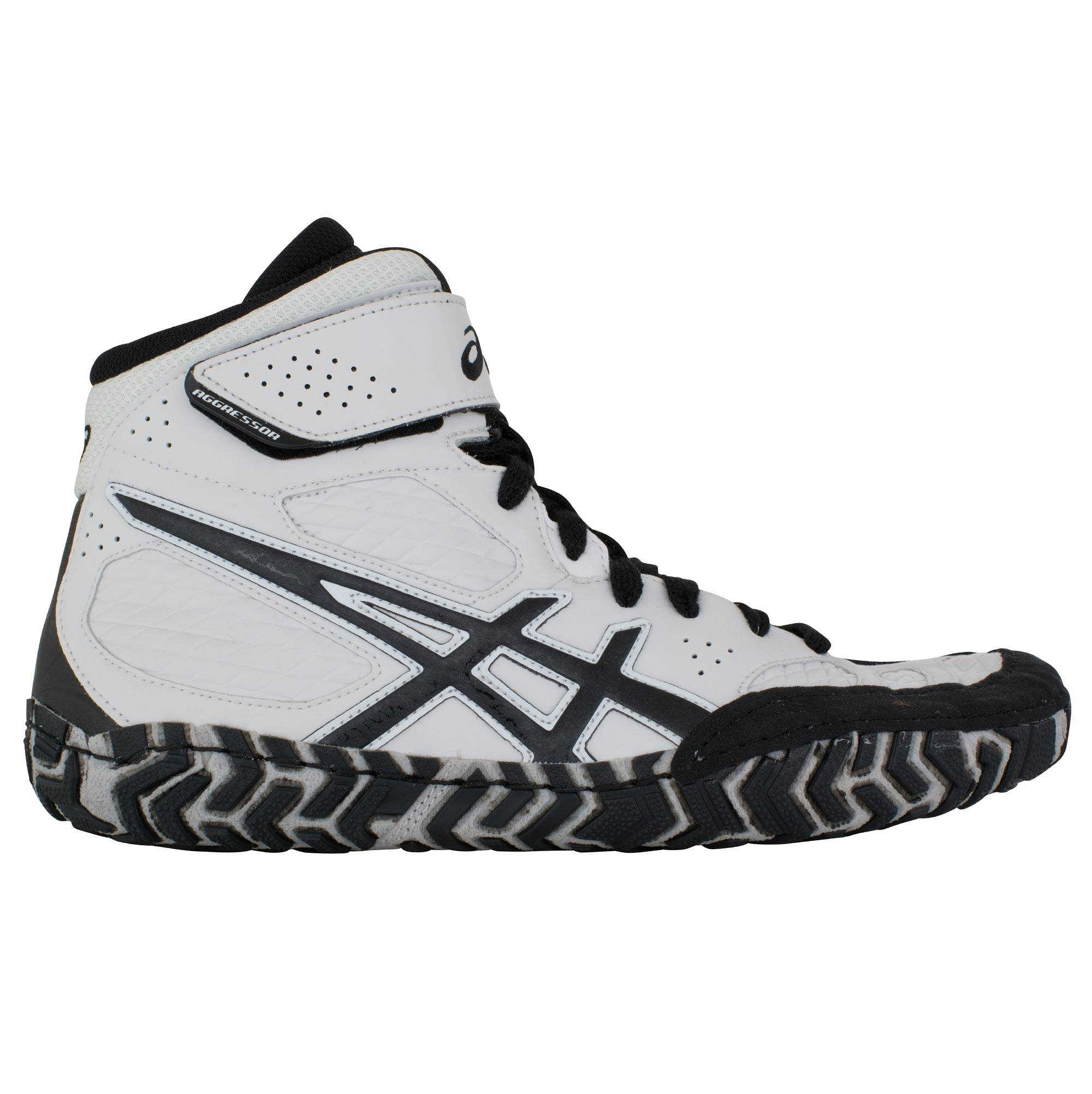 Cheap ASICS Aggressor 2 White/Black/Silver on sale