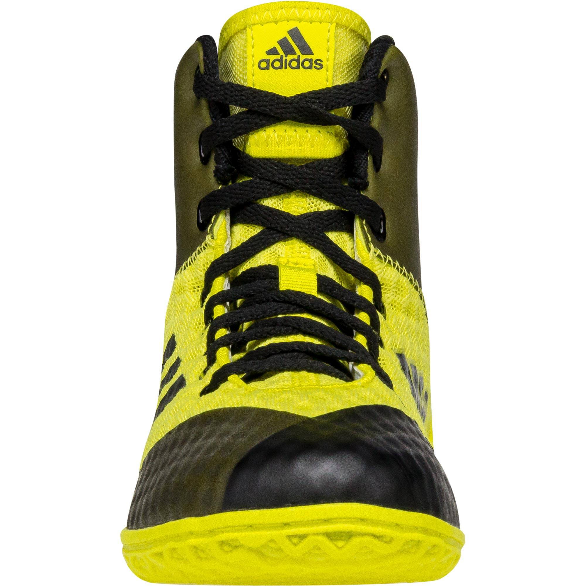 Black And Yellow Youth Wrestling Shoes