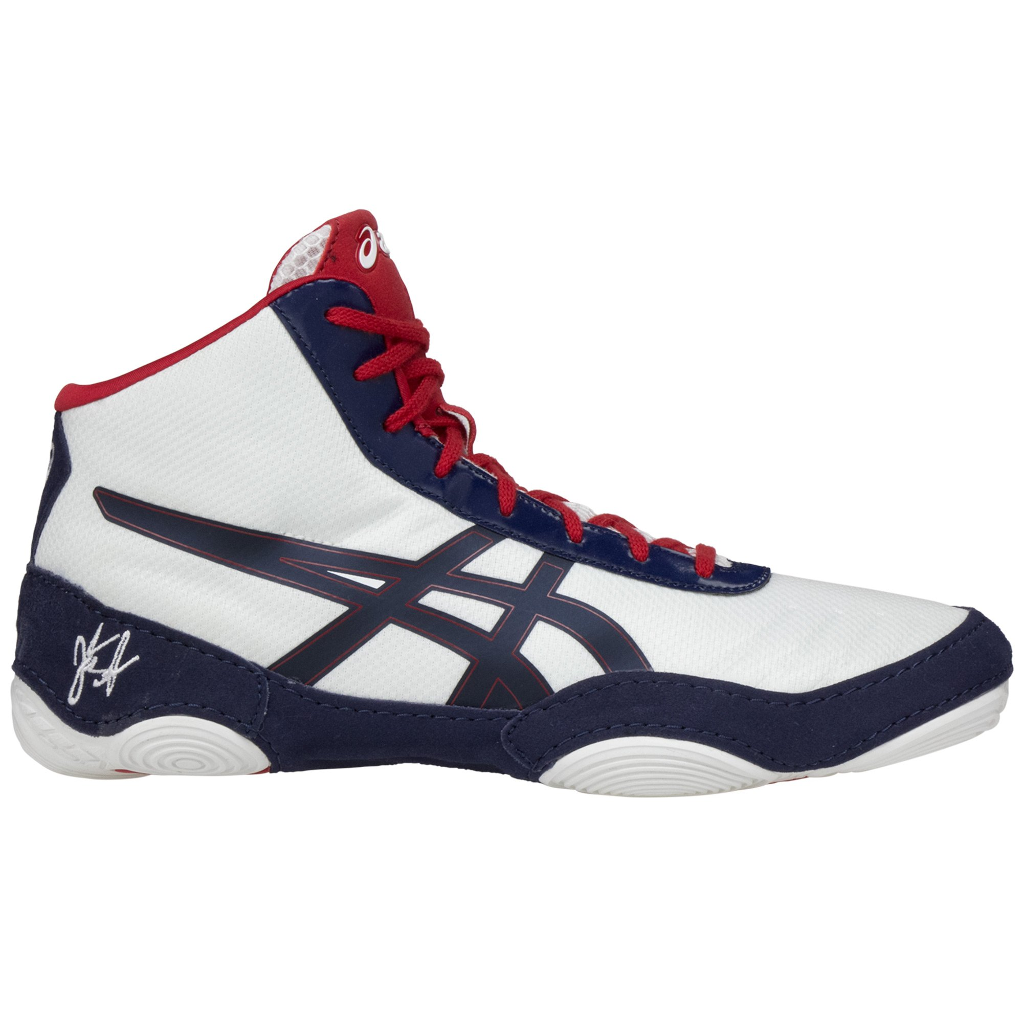 b7f0b9255d24 Asics JB Elite V2 White Navy Red ...