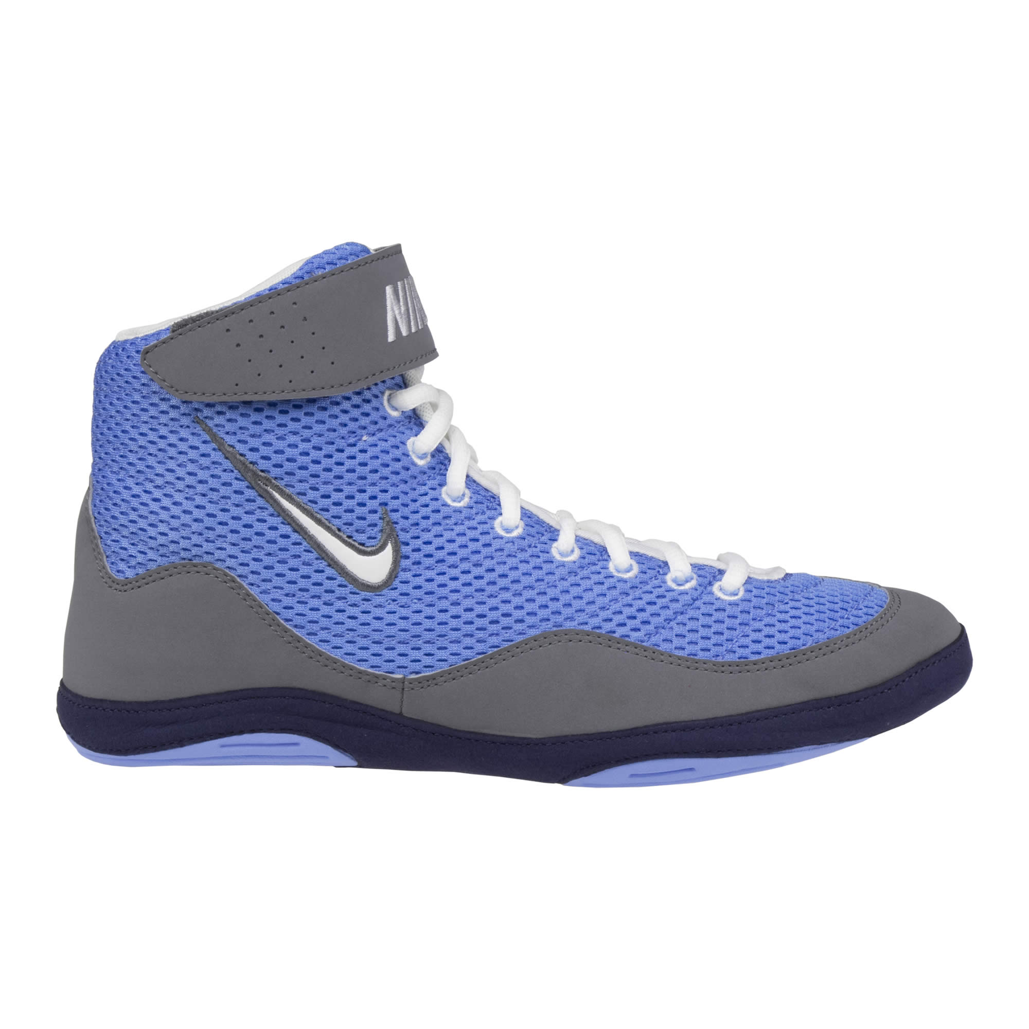 Royal Blue And Gold Wrestling Shoes