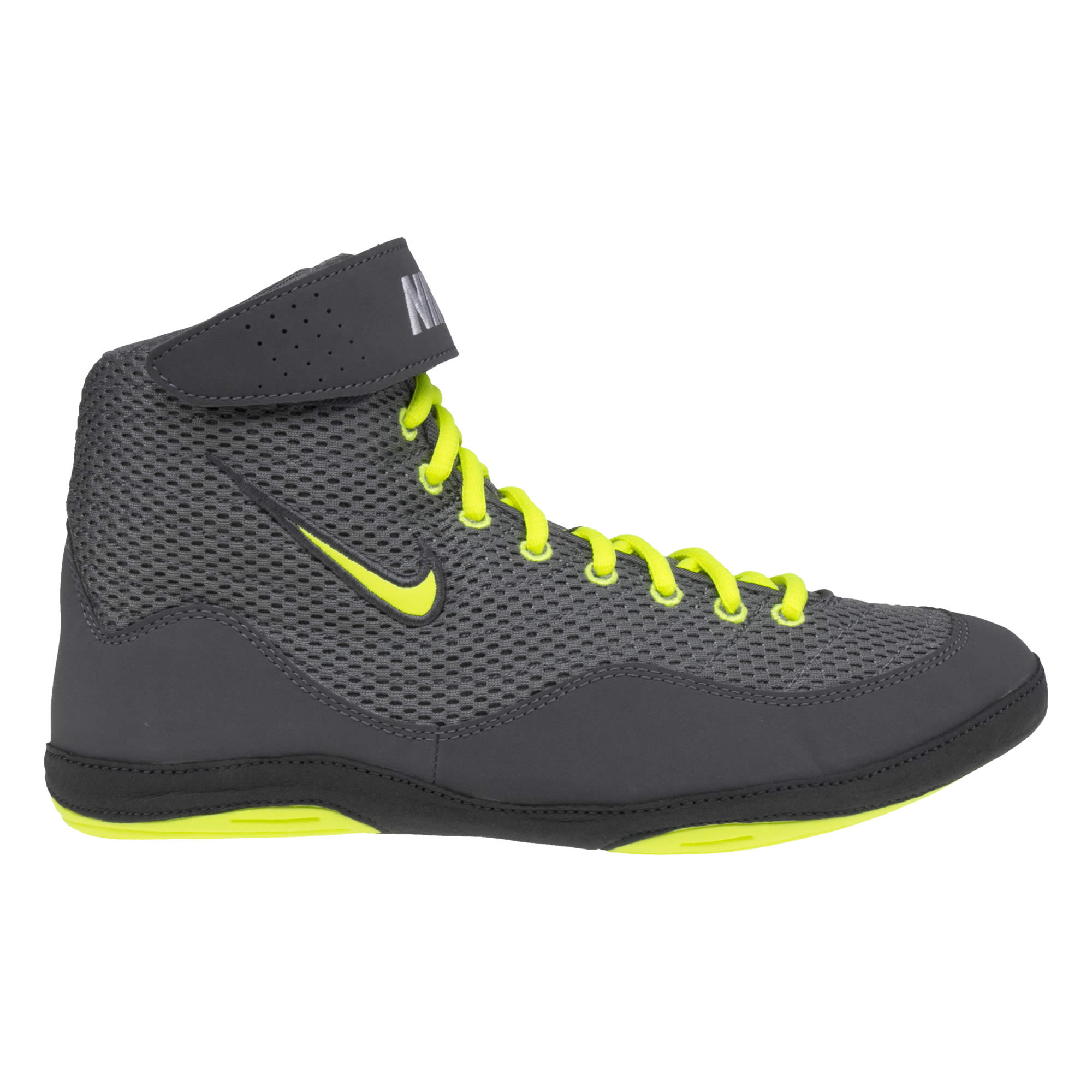 nike gray and gold wrestling shoes
