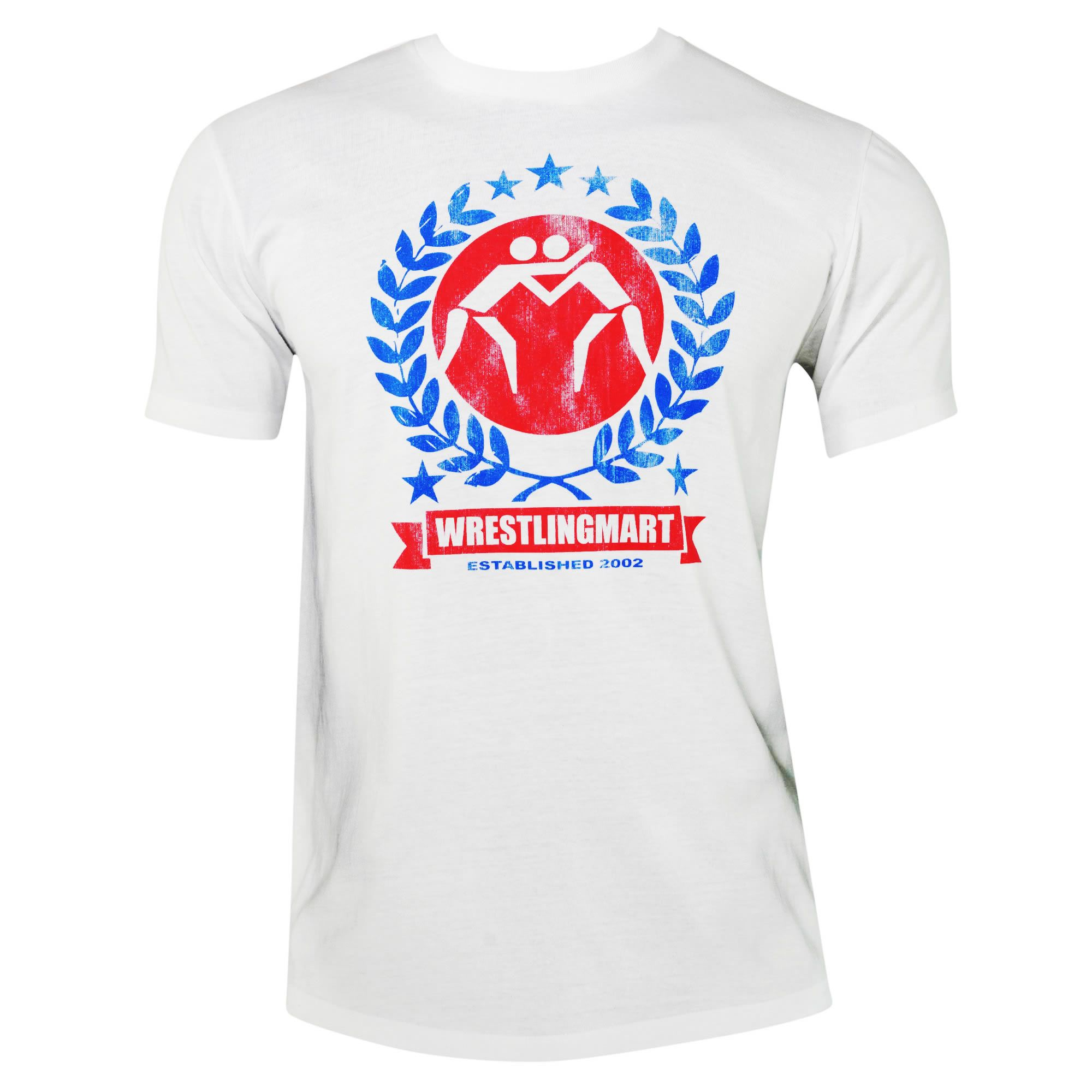 Red white and blue victory tee apparel wrestlingmart for Red and blue t shirt