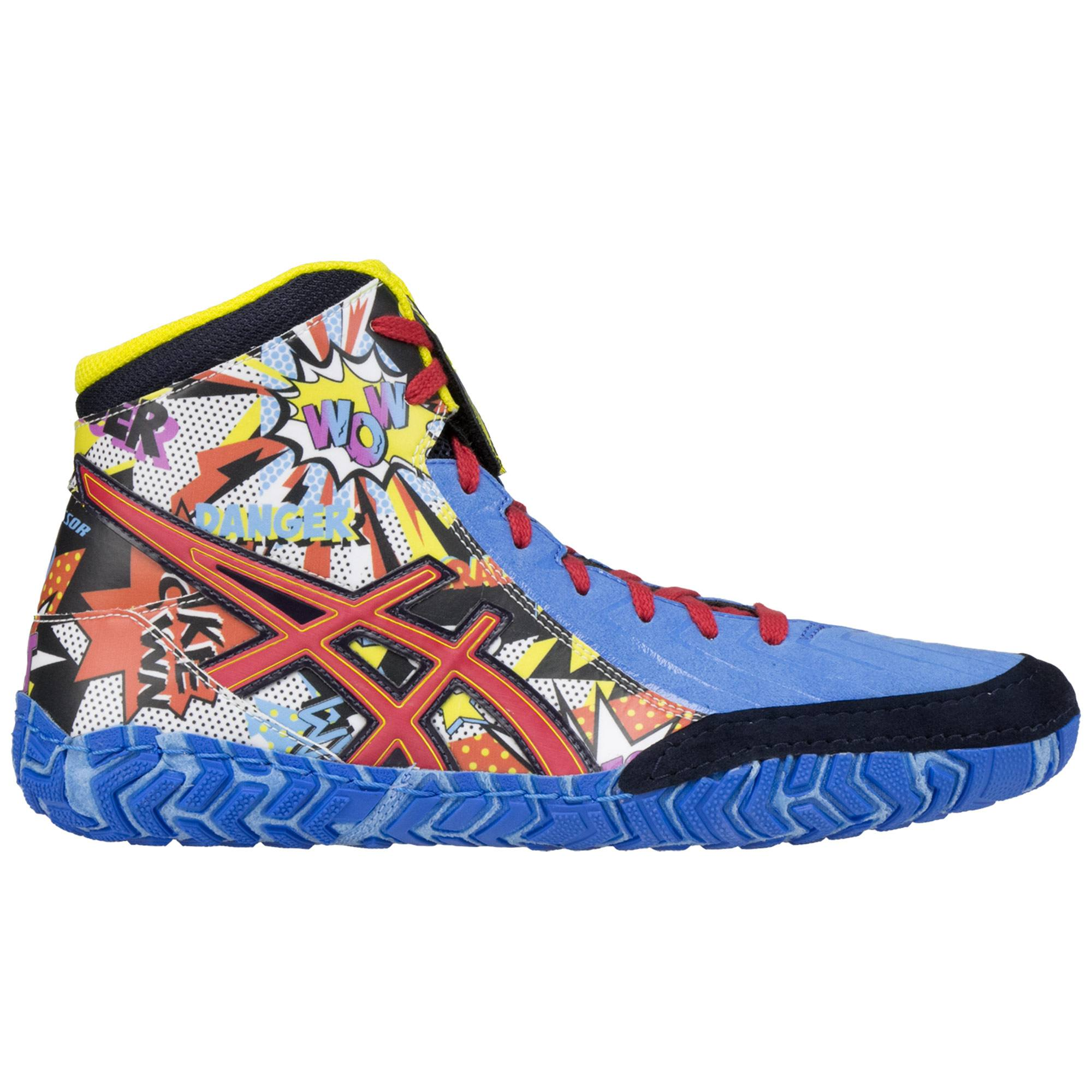 8bf954efd5a4 ASICS Aggressor 3 L.E. Comic Blue Yellow White ...
