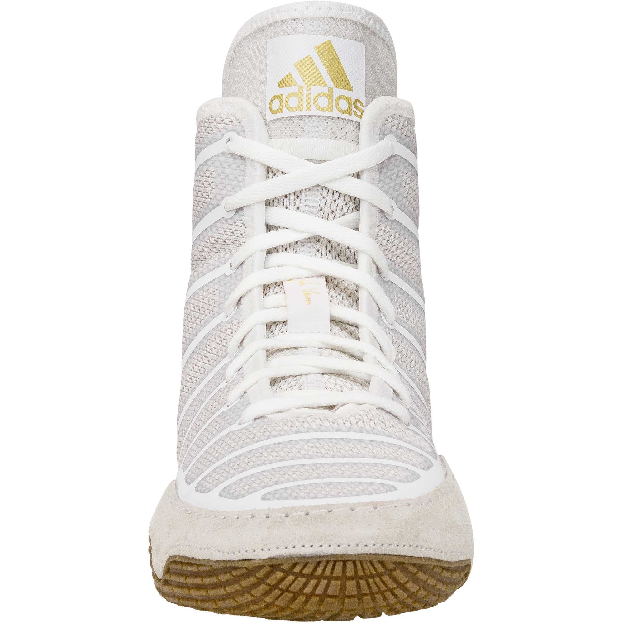 adidas gold and white