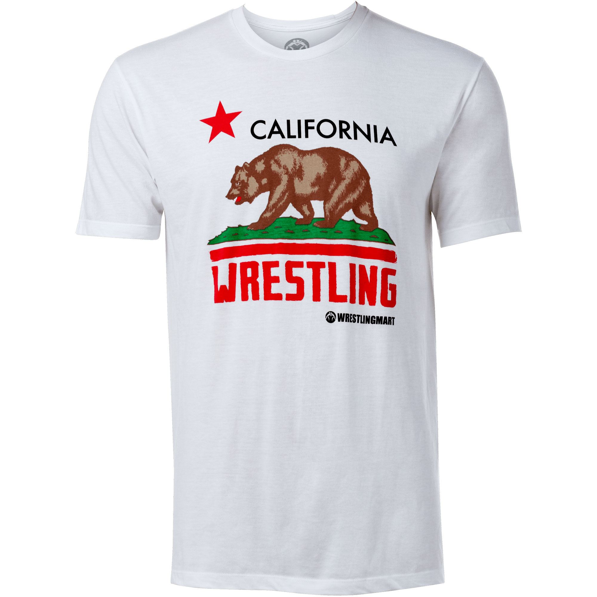 california wrestling flag t shirt apparel wrestlingmart free shipping. Black Bedroom Furniture Sets. Home Design Ideas