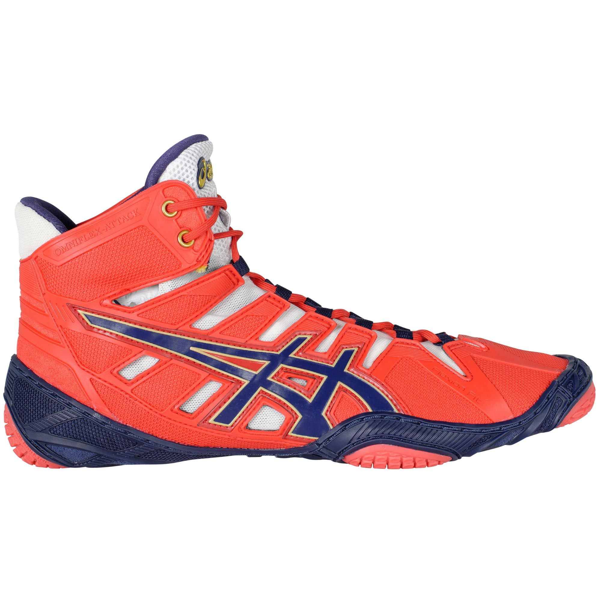 ASICS Omniflex Attack Red Navy White ...