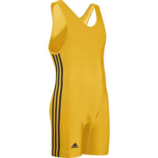 Adidas aS102s 3 Stripe Singlet-AthleticGold-Black