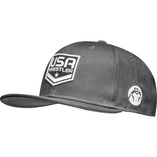 WrestlingMart USA Wrestler Hat-Grey-White