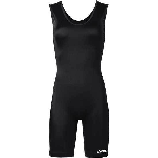 ASICS Womens Solid Modified Singlet-Black
