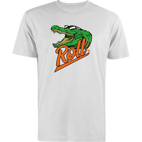 WM GATOR ROLL CrewNeck SS Tee-White