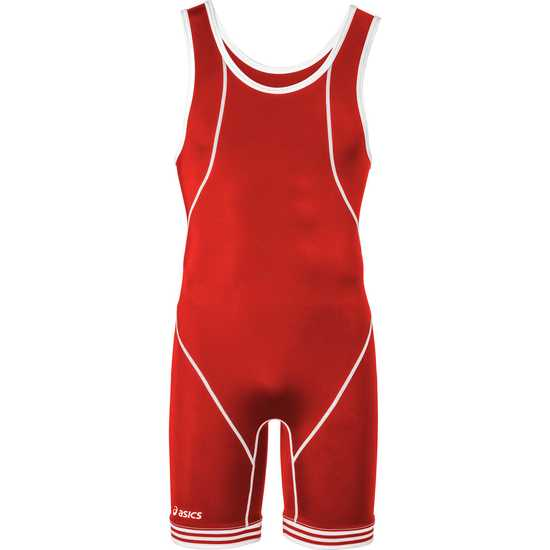 ASICS Snap Down Wrestling Singlet Red