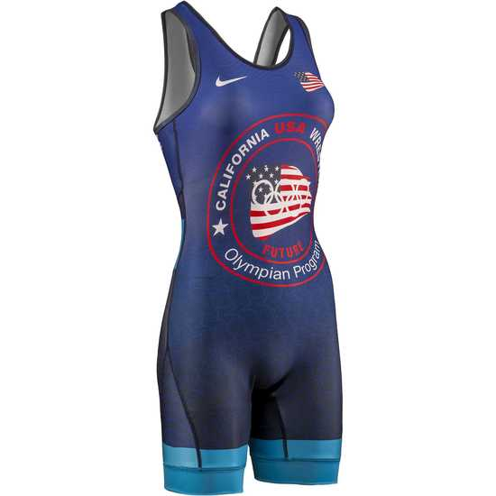 CA USA 2019 Womens Stars Singlet-Navy-Royal