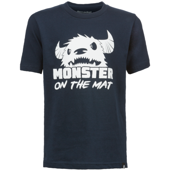 WrestlingMart Youth Mat Monster Tee Navy