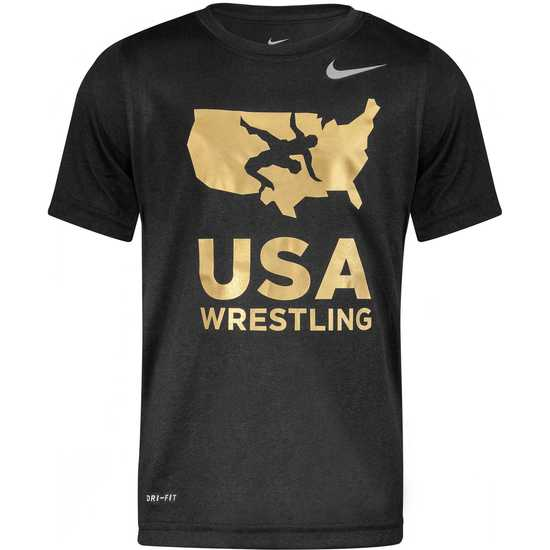 1baf68a18 Nike USAWrestling Youth Dri-Fit Tee Apparel | WrestlingMart | Free ...