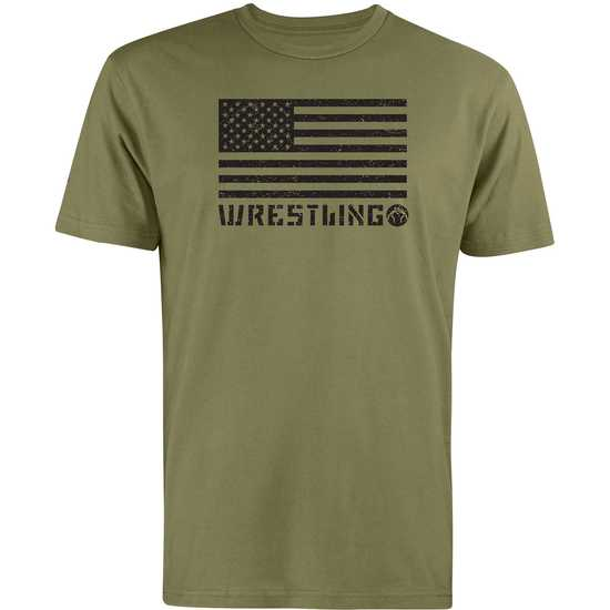 WM American Wrestling Tee-Green