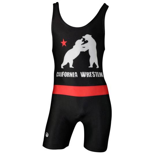 Black Wrestling Bears WM Singlet