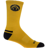 WrestlingMart Performance Sock  gold black main