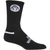 WrestlingMart Varner Performance Sock  black white dark-grey outside