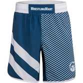 WrestlingMart Signature Fight Short Limited  navy white front