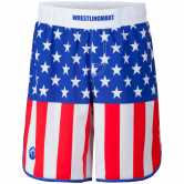 WM Signature Fight Short Limited  USA Flag  blue red white main